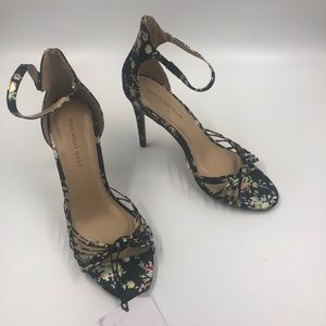 Who What Where Truth Floral Knotted Stileto Pumps